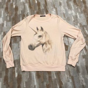 Wildfox unicorn pony sweatshirt sz XS